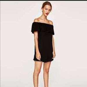 Zara off the shoulder ruffle playsuit